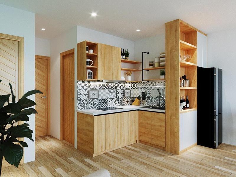 tủ bếp thiết kế cổ điển