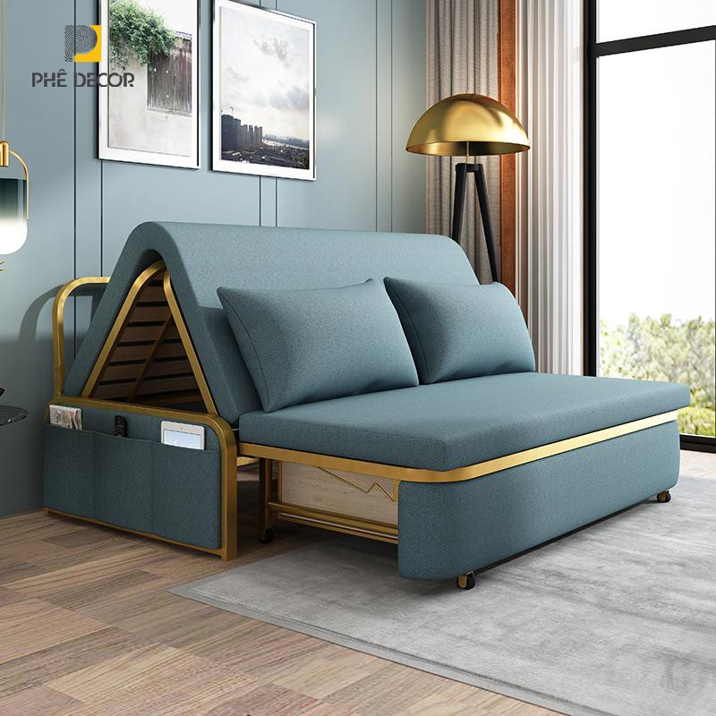 sofa giường viền vàng SFG04