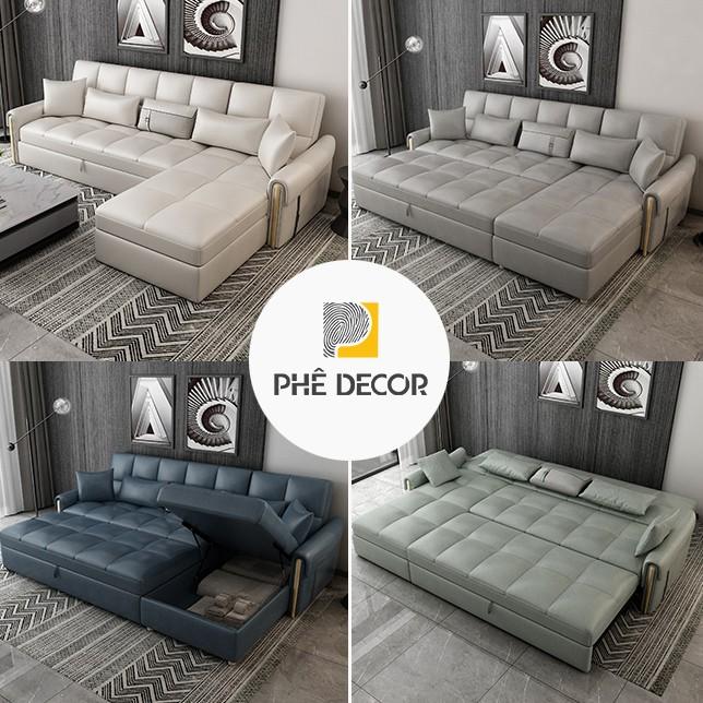 sofa giường da sang trọng SFG67