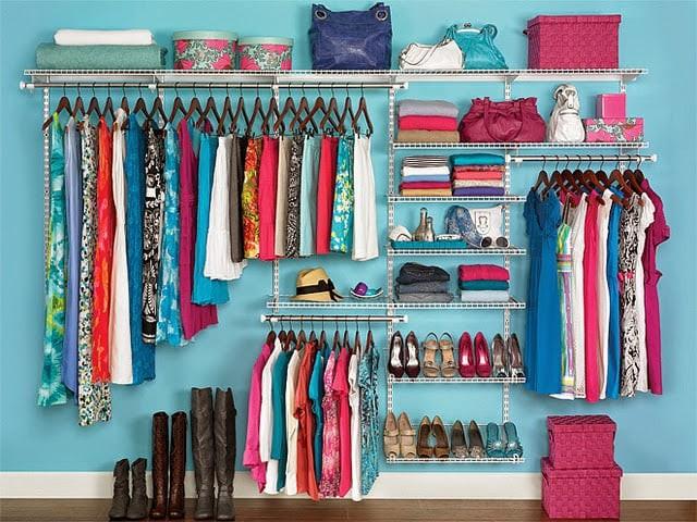 cách xếp tủ quần áo gọn gàng