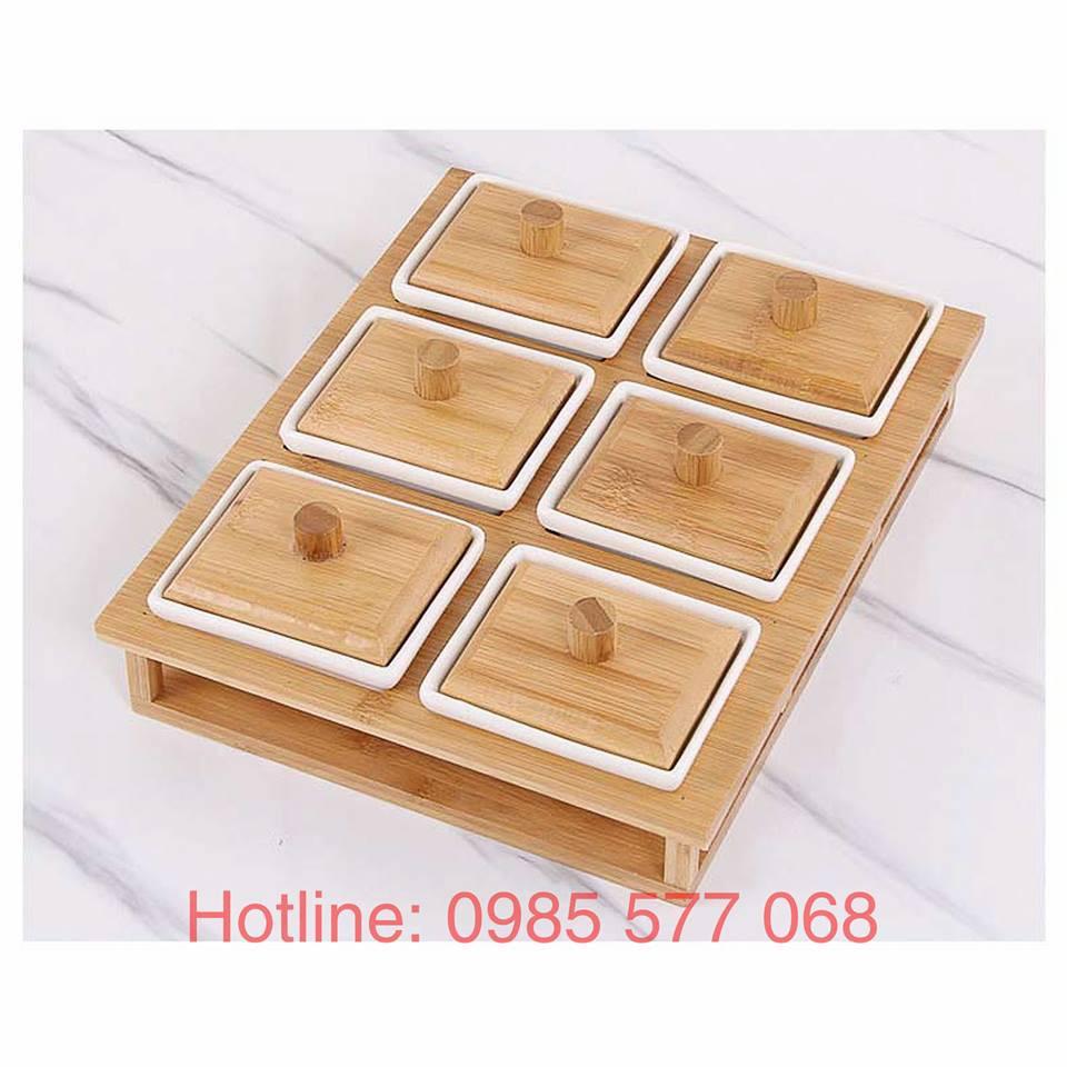 Hộp, Khay đựng mứt đẹp, giá rẻ chất liệu gỗ và sứ cho ngày tết 2