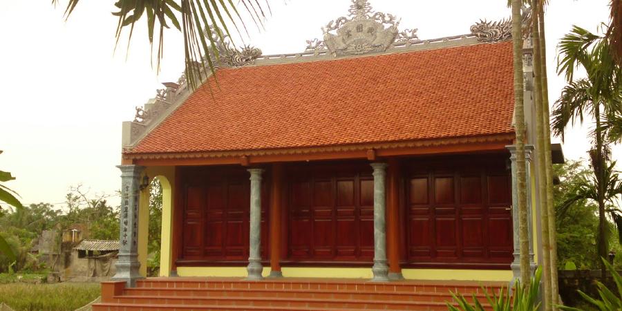 Nhà thờ họ thiết kế theo lối cổ truyền