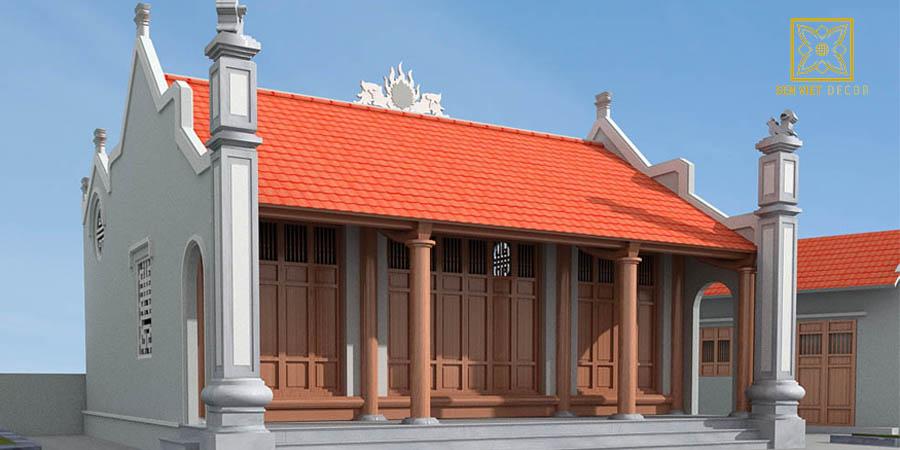 Nhà thờ họ 3 gian có đặc điểm khác giống với nhà ở dân gian