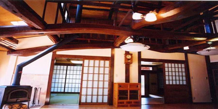 Kiến trúc nhà gỗ truyền thống của Nhật Bản.