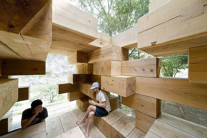 Mẫu nhà gỗ độc đáo của kiến trúc sư người Nhật