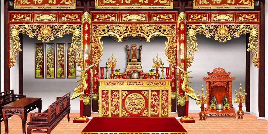 Tổng hợp 4 mẫu bàn thờ gỗ đẹp nhất tại Hà Nội