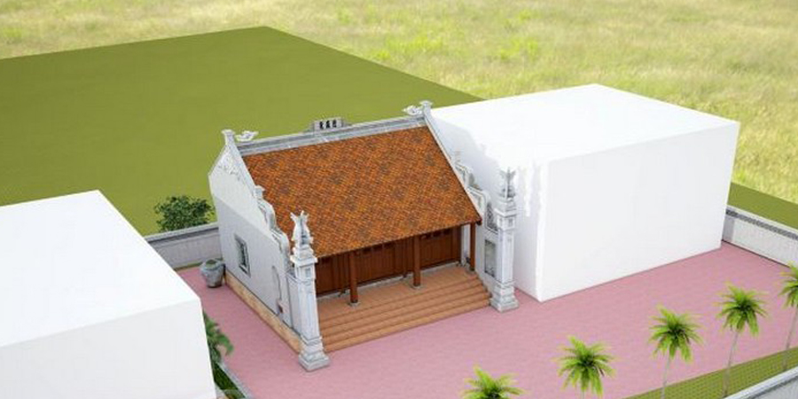 Kiến trúc nhà thờ họ 2 mái mang đệm phong cách kiến trúc dân gian của người Việt