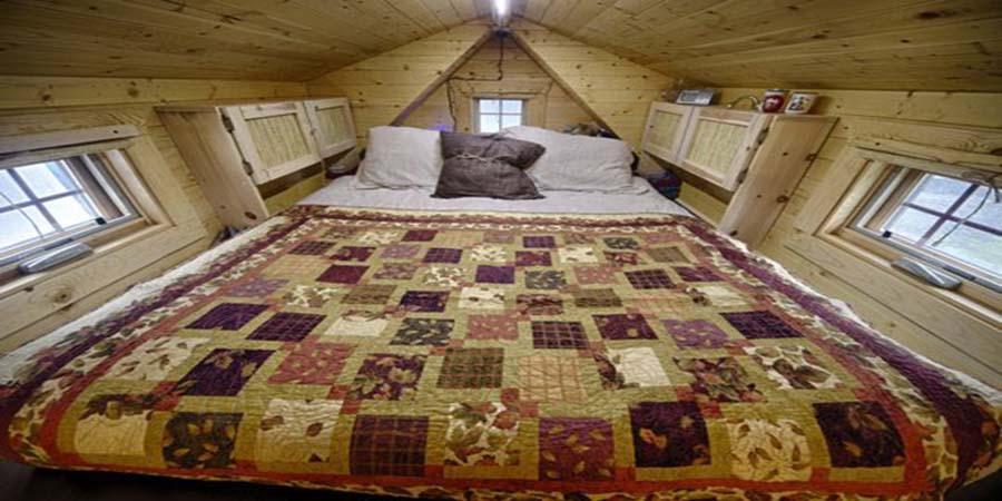 Thiết kế phòng ngủ nhà gỗ thông.