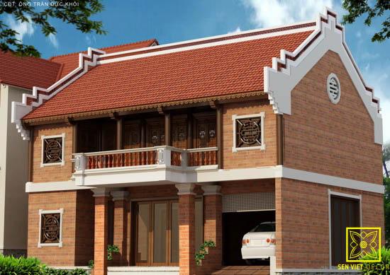 Mẫu nhà thờ họ 2 tầng tại Nam Định