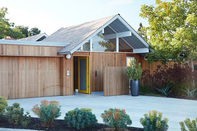 Ngôi nhà gỗ này nằm tại Mountain View, California