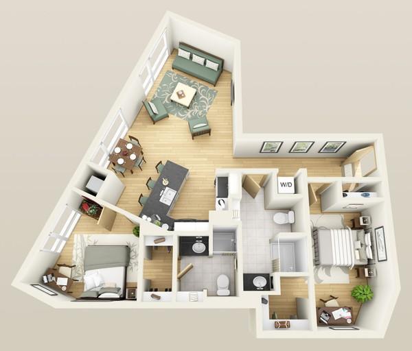 Không nên mua căn nhà hình dạng méo mó
