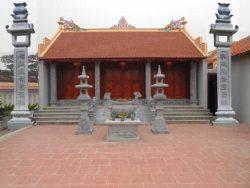 Mẫu nhà từ đường đẹp 3 gian 2 mái tuân theo những nét kiến trúc cổ truyền của người Việt ở vùng đồng bằng Bắc Bộ xưa, được thể hiện ở các đường nét, họa tiết, hoa văn.