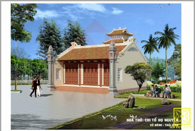Nhà thờ chi tổ họ Nguyễn ở Vũ Đông - Thái Bình