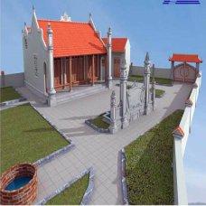 Bàn thờ vị tổ cao nhất được đặt ở gian chính giữa, còn bàn thờ các vị tổ thấp hơn được được bài trí ở hai bên