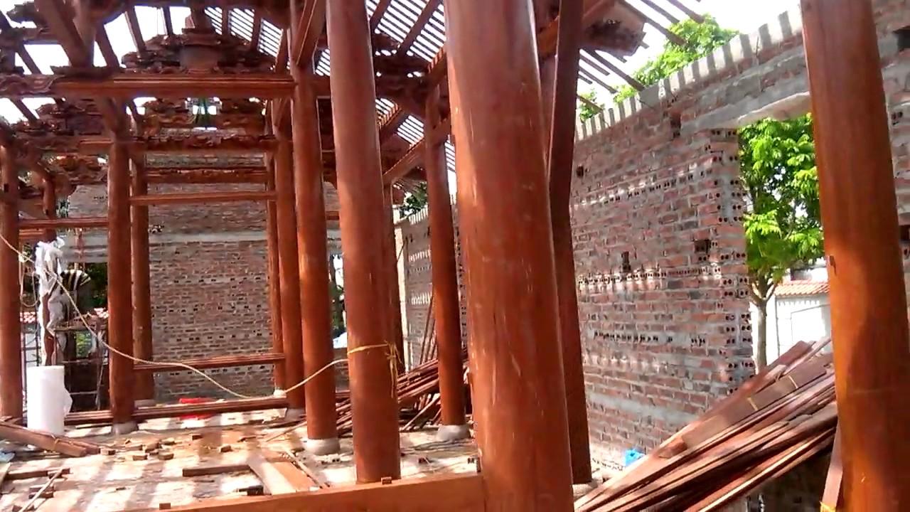 Video thi công công trình nhà gỗ của ông Nguyễn Hoàng Lâm