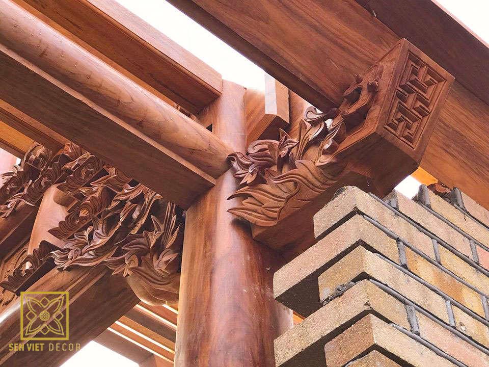 Nhà từ đường, nhà thờ dòng họ đẹp tại sen việt decor