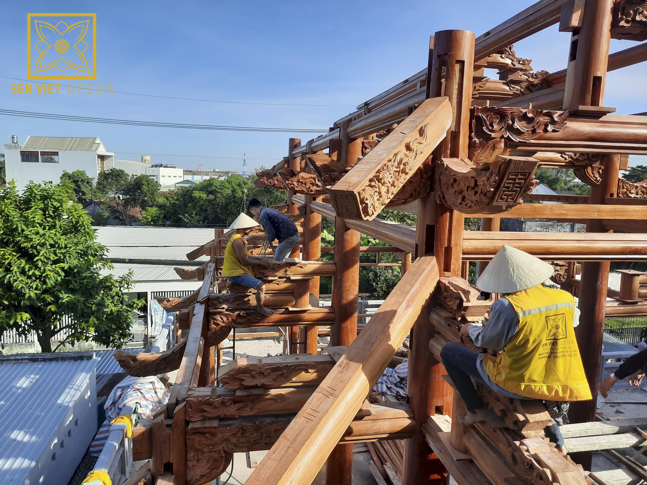 lắp dựng gỗ tại công trình