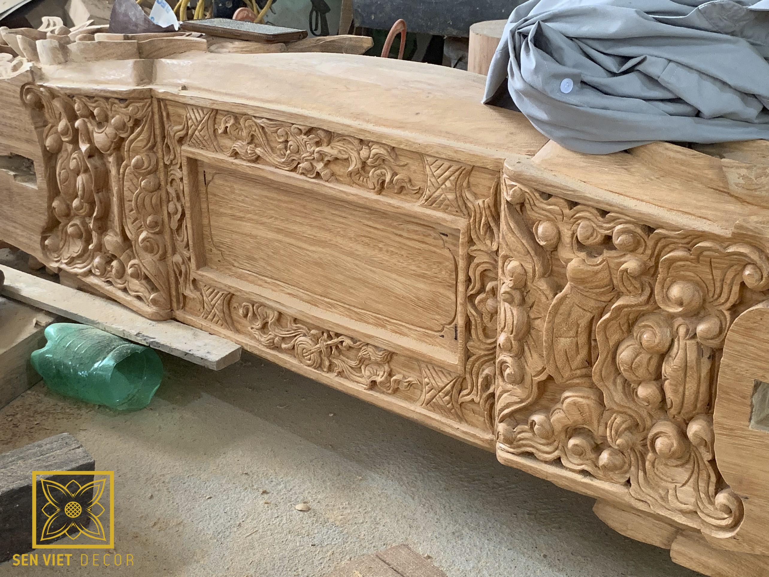 chạm khắc cấu kiện gỗ