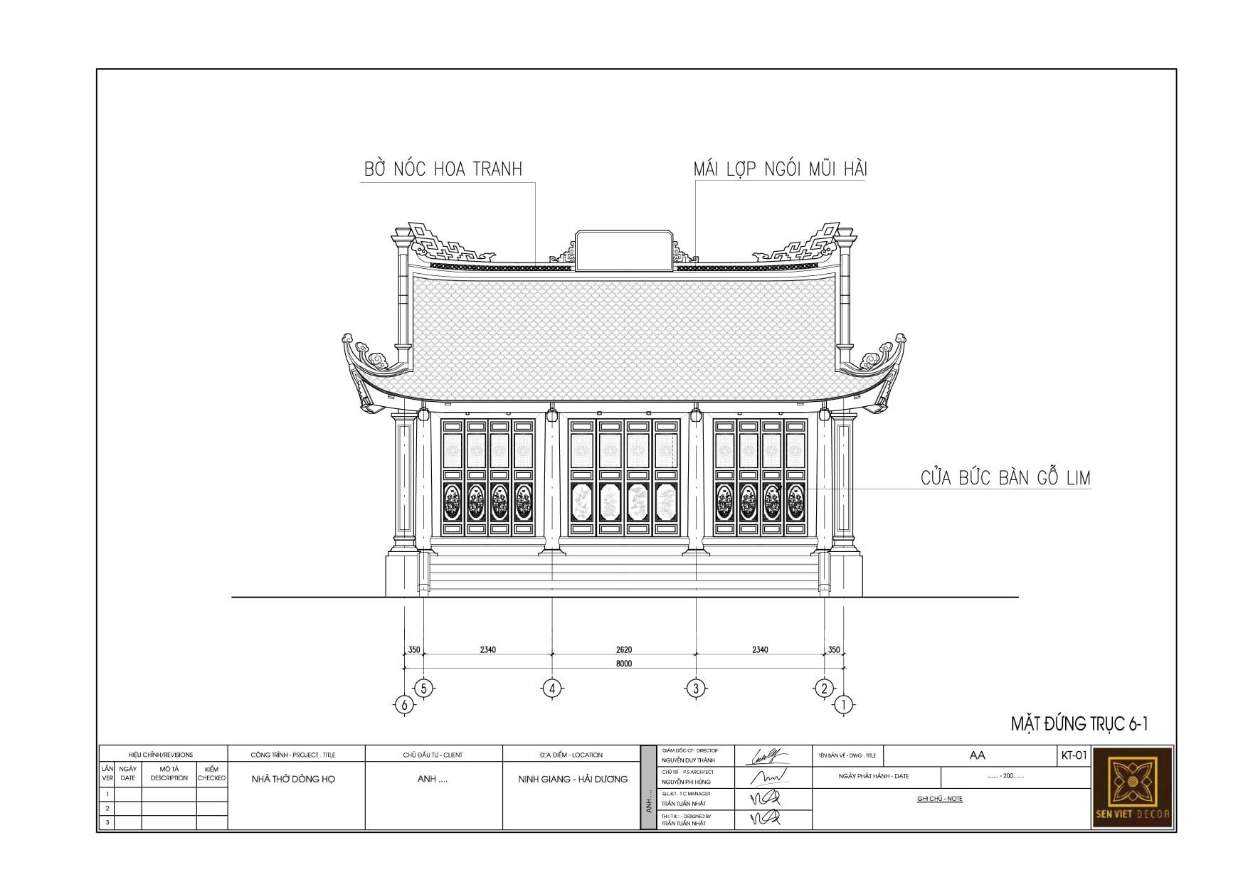bản vẽ thiết kế nhà gỗ 3 gian