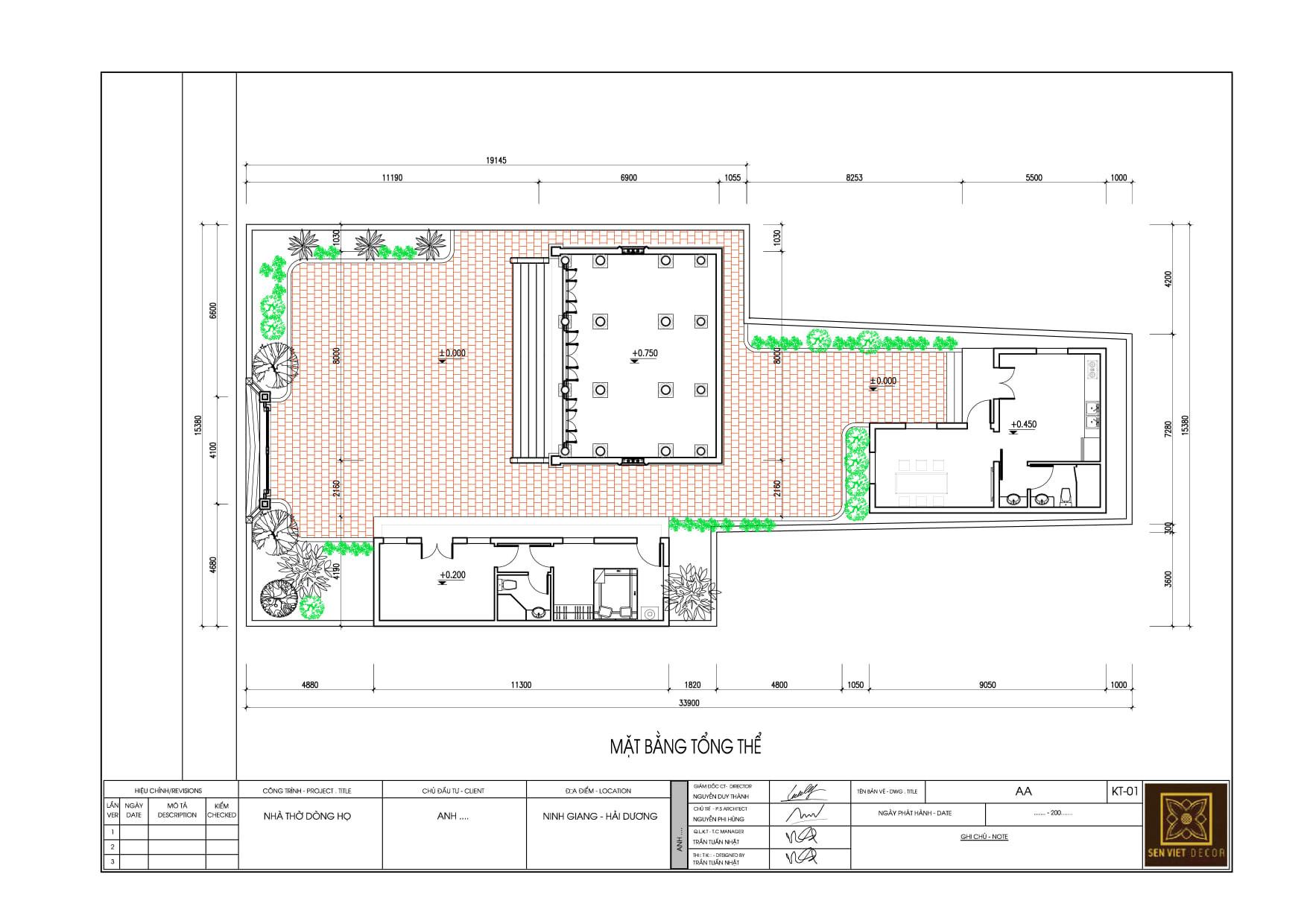 bản vẽ thiết kế nhà gỗ 3 gian kết hợp nhà ở