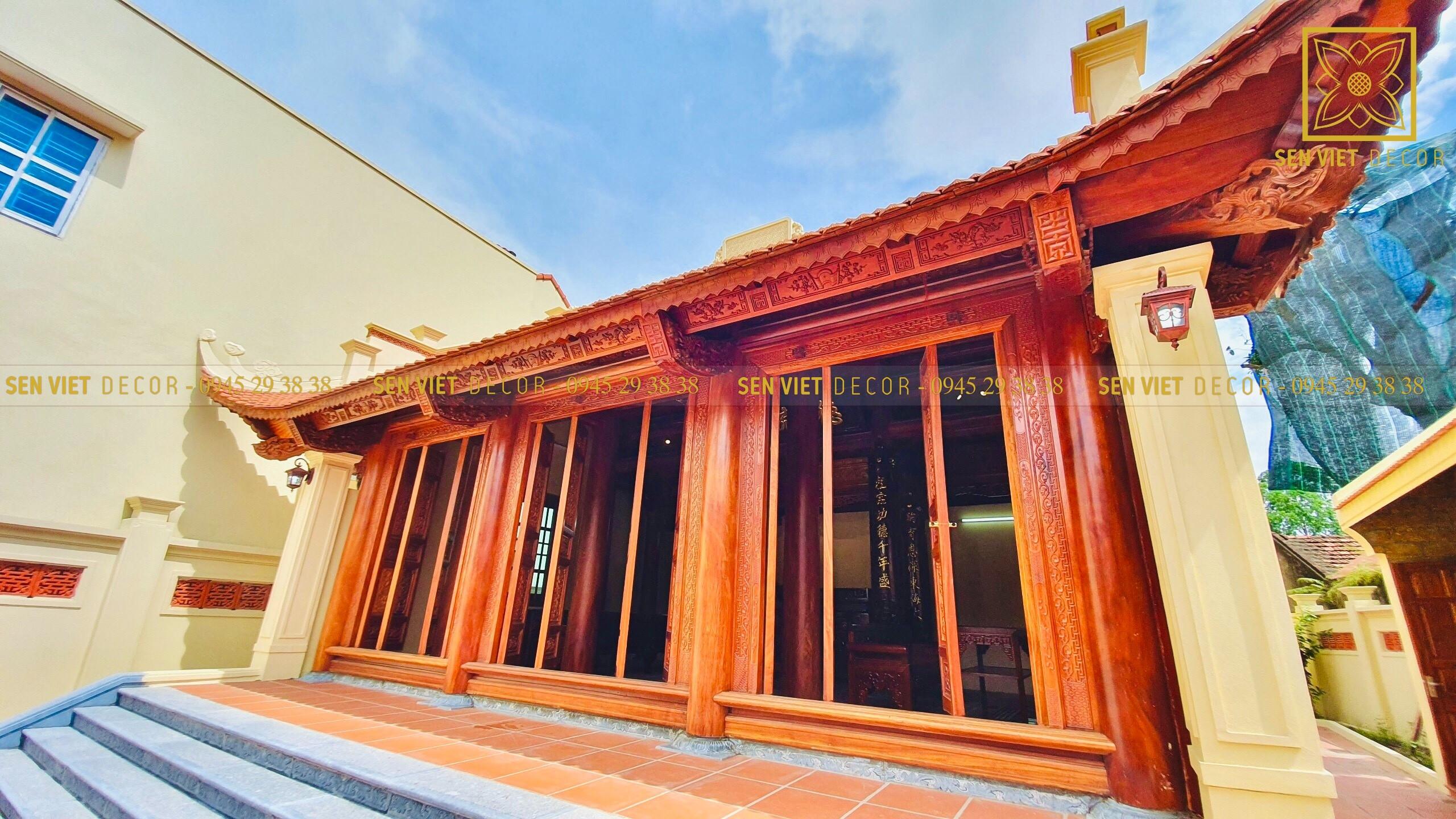 thiết kế nhà gỗ 3 gian kết hợp nhà ở