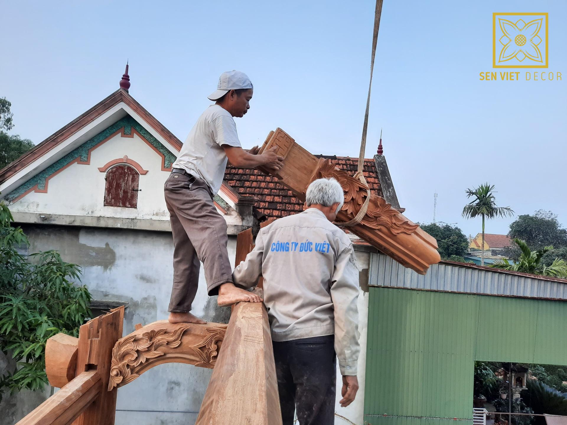lắp dựng nhà gỗ lim 3 gian