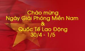 Thông báo V/v nghỉ ngày Giỗ tổ Hùng Vương (10/3 âm lịch) và quốc tế lao động 30/4 và 1/5 năm 2019