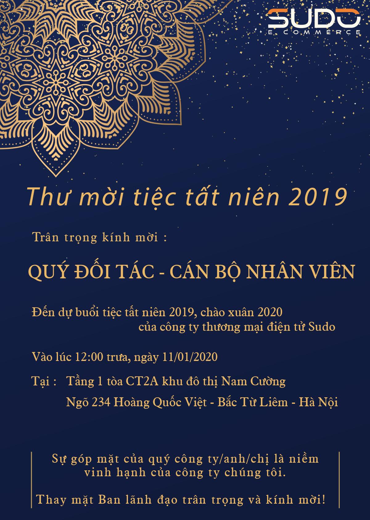Thông báo: Tiệc tất niên chào xuân Canh Tý 2020