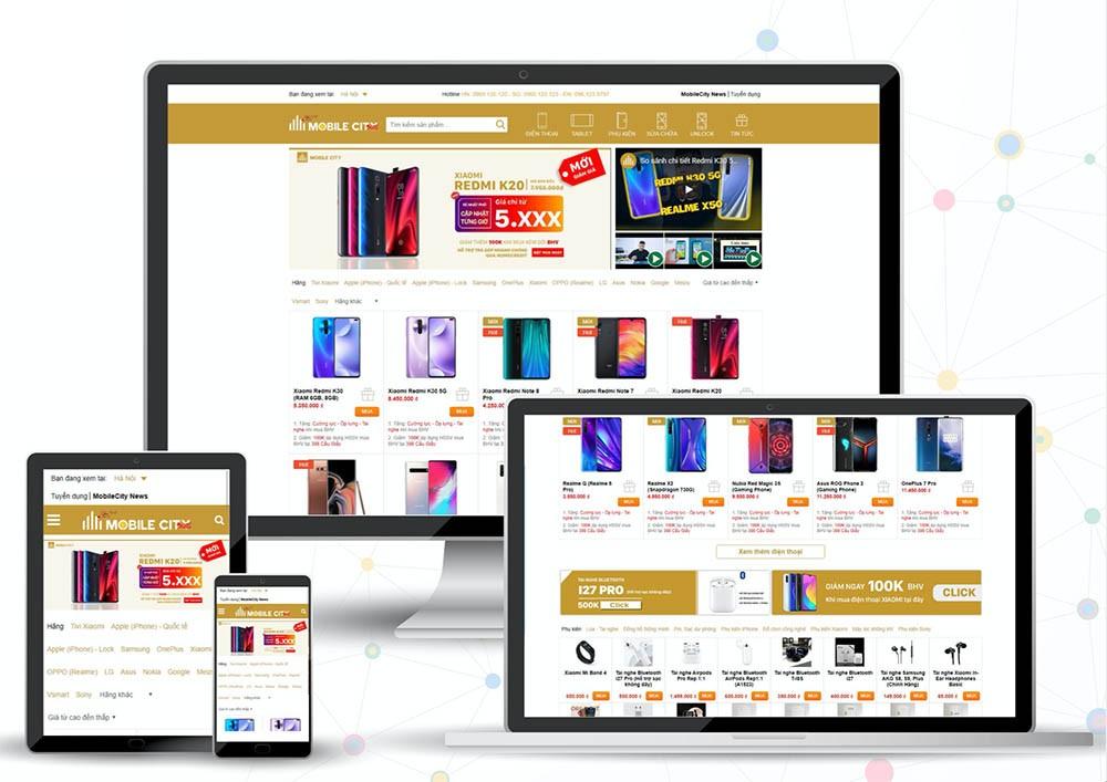 Website bán hàng MobileCity