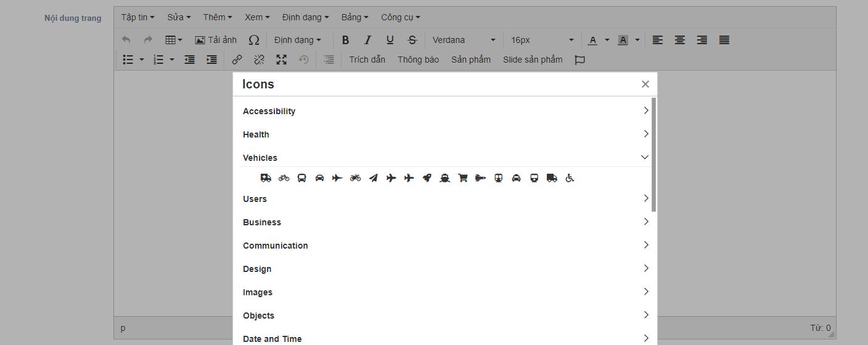 Cách thêm Icon Font Awesome vào TinyMCE trong Laravel