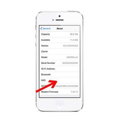 Sửa iPhone 5, 5S mất IMEI
