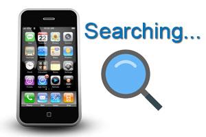 Cấp cứu iPhone báo đang tìm kiếm