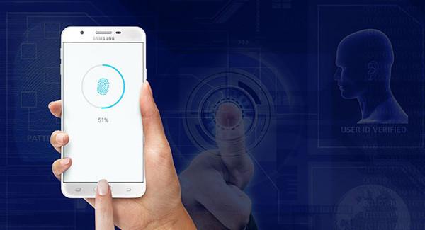 Bảo mật tuyệt đối với khóa vân tay Samsung J7 Prime