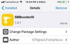 SBBoosterXI - Tăng tốc hiệu ứng, loại bỏ thành phần không cần thiết cho máy đã Jailbreak