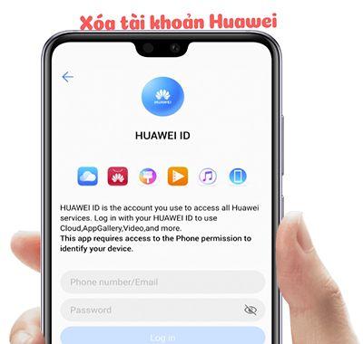 Xóa tài khoản Huawei ID