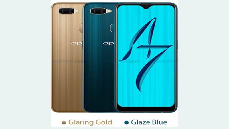 Điện thoại OPPO A7 được ra mắt với thiết kế mặt sau cực mới lạ