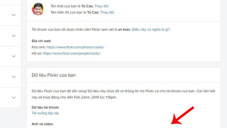 Flickr sẽ hết miễn phí, hướng dẫn tải ảnh Flick về trước 5/2/2019