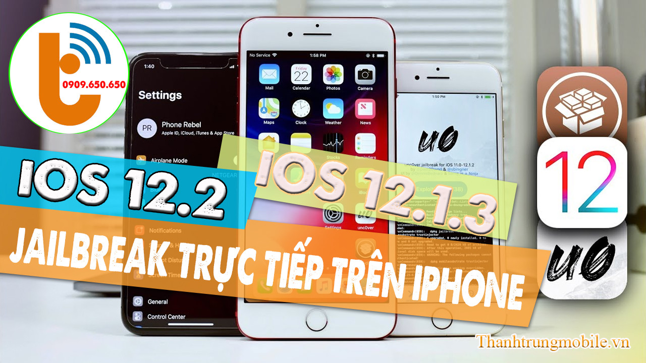 Hướng Dẫn Jailbreak iOS 12.1.3 - 12.2 Chi Tiết và Đơn Giản Nhất