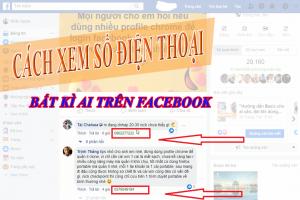Cách Xem Số Điện Thoại Bất Kì Ai Trên Facebook
