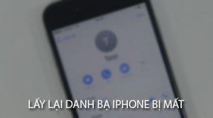 3 Cách lấy lại danh bạ trên iPhone - Khôi phục danh bạ trên iPhone nhanh chóng