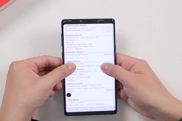 Hướng dẫn test áp suất Samsung Note 9 nhanh chóng nhất