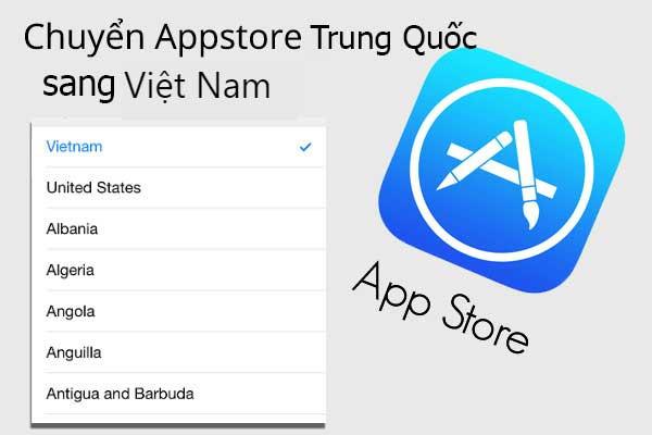 Cách chuyển Appstore từ tiếng Trung sang tiếng Việt đơn giản dễ làm theo