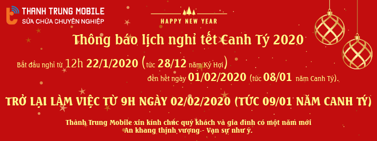 Thông báo nghỉ tết Canh Tý 2020