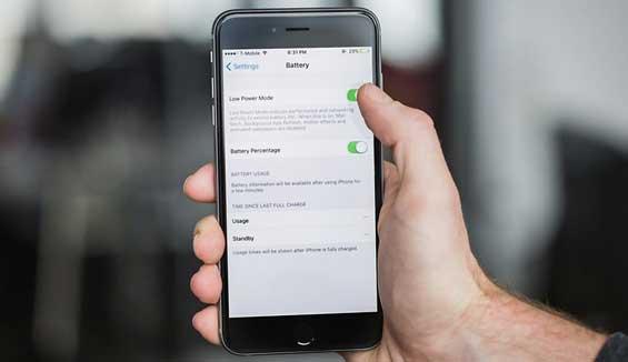 Hướng dẫn cách bật chế độ tiết kiệm pin cho iPhone 6S Lock
