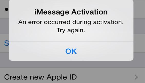 iPhone 7 Lock không kích hoạt được imessage phải làm thế nào?