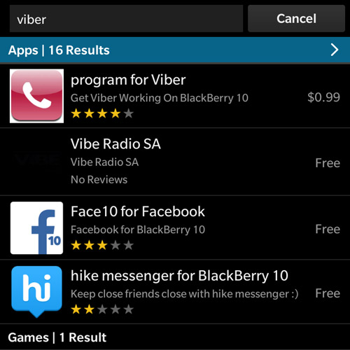 Hướng dẫn cài Viber cho BlackBerry Passport