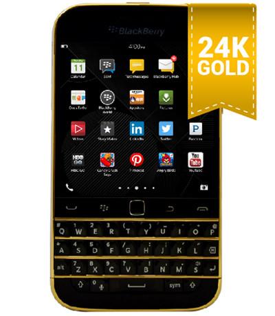 BlackBerry Classic mạ vàng 24K