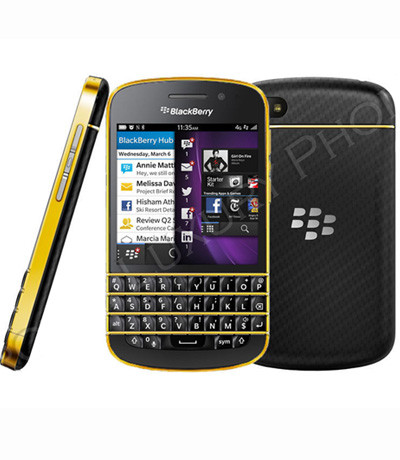 BlackBerry Q10 viền Gold
