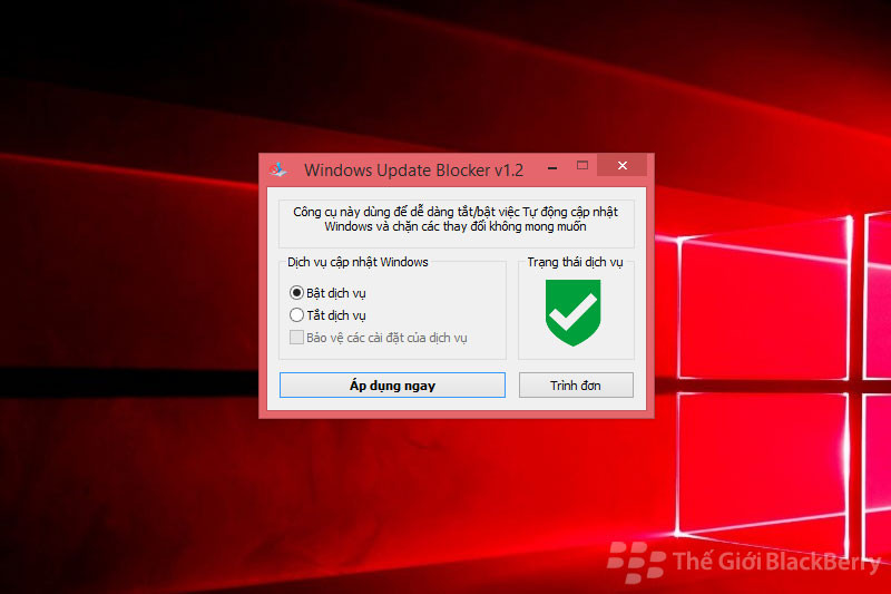 Bật Windows update blocker