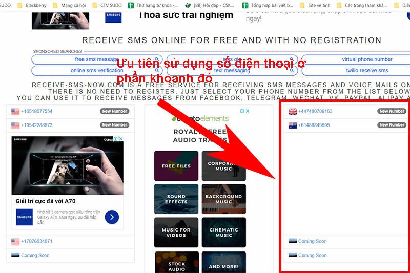 Hướng dẫn sử dụng http://receive-sms-now com